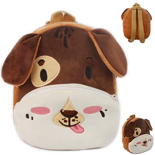 QINX Bonita mochila de peluche con diseño de gato, para niños y niñas, ideal para la escuela
