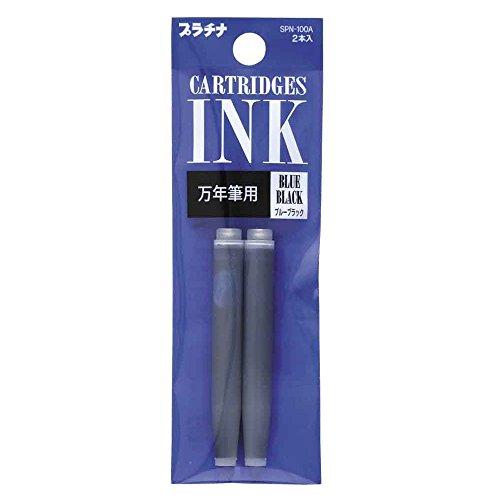 Cartuchos de tinta para pluma estilográfica, de Platinum Preppy, color azul negro,...