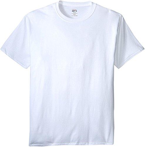Hanes Men's Beefy-T Crewneck Short-Sleeve T-Shirt, White - 4X Tall