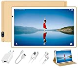 Tablet 10 Pulgadas Android 10.0 FACETEL Tablets 4GB RAM+64GB ROM (TF 128GB) Octa Core,Tablets 5.0+8.0 MP HD la Cámara, Certificación Google GMS,1280 * 800 Full HD Display | Bluetooth | WiFi | -Oro