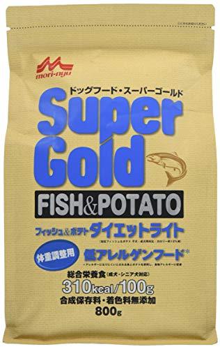 スーパーゴールド フィッシュアンドポテト ダイエットライト 犬用 800g