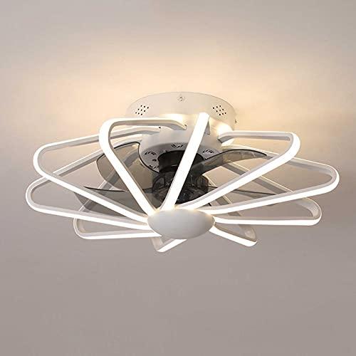 Ventilador de techo con iluminación Luz, Lampara LED Techo Ajustable Velocidad del viento regulable con control remoto 160W Luz de techo LED moderna para dormitorio Sala de estar Comedor 58cm