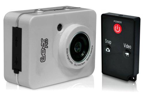 Gear Pro HD 1080P Action Camera Hi-Res Digital Camera/Camcorder with Full HD Video, 12.0 Mega Pixel Camera & 2.4'' Touch Screen (Silver)