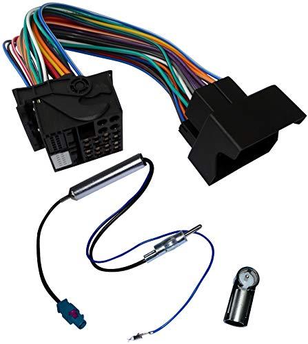 AERZETIX - Kit de Montaje de Radio de Coche estándar - Cable Enchufe de alimentación - Adaptadores de Antena - C10872A