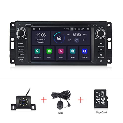 Android 10.0 OS 6.2 inch Touch Screen Car Radio car Stereo for Jeep Wrangler Dodge Chrysler Car DVD Player