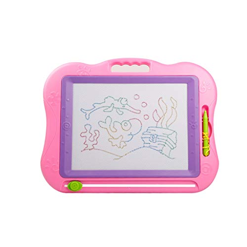 Drawing Board Magnetic Drawing Board Children's Graffiti Board Travel Portable Toy Creative Erasable Board Girl Boy Writing Tablet (Color : Sketchpad+Picture Album+Tools)