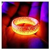lefeindgdi Leuchtring, leuchtet im Dunkeln, Schmuck, Unisex-Dekoration für Damen und Herren
