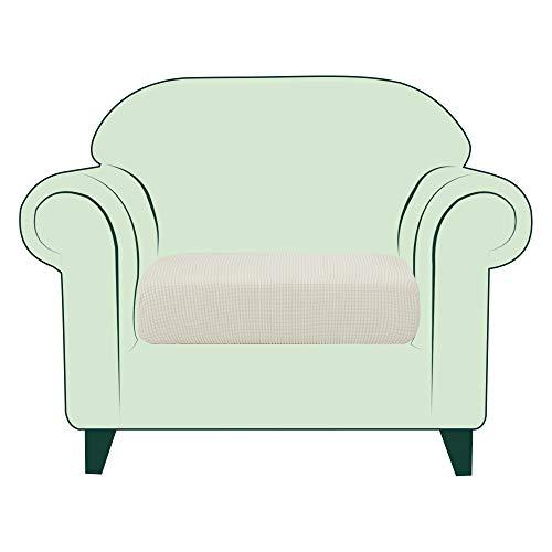 CHUN YI 1 Stück Sofa Sitzkissenbezug Stretch Sitzkissenschutz Elastischer Husse Überzug für Sofa Sitzkissen rutschfest Stoff Möbelschutz(1-Sitzer, Beige)