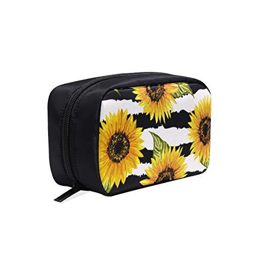 Sac de voyage pour femme, beau modèle sans couture, tournesols sur sac de toilette de voyage abstrait