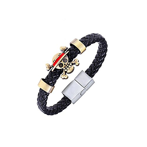 Anime One Piece Skull Monkey D. Luffy Pirate Bracelet (#2)