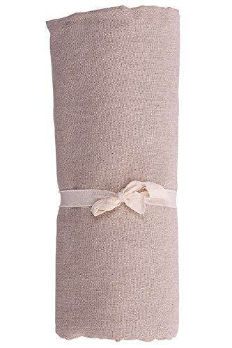 HomeLife - Telo Arredo Copridivano a Tinta Unita Maxi [280X360] – Lenzuolo Copritutto Multiuso in Cotone – Granfoulard Copriletto Grande - Made in Italy [280 X360] – Beige