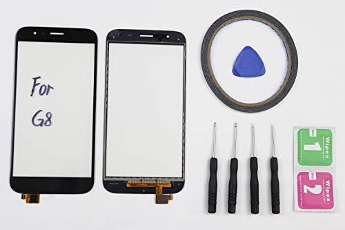 JRLinco Para Huawei G8 RIO-L01 RIO-L02 Pantalla Táctil de Cristal,Touch Screen Digitizer Outer Glass Replacement (Sin LCD Display) para Huawei G8 Negro + Herramientas y Adhesivo