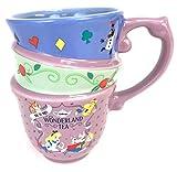 Disney Parks Alice in Wonderland Triple Stacked Cups Teacup Mug
