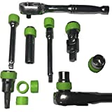 Keyfit Tools Socket Spinner Grips (20 Pack) Easily Spin Sockets & Extensions Grips Slippery Chrome For Sockets Extensions Adapters Ratchets Swivels Universal Joints Reducers Socket Sets SHIPS1-15-2019