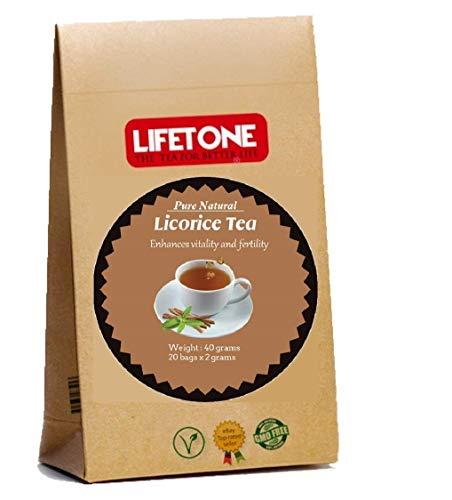 Té de regaliz puro | Hierba entera | Té para aliviar el estrés | Té digestivo | 20 bolsitas de té