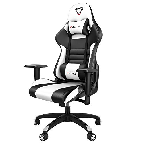 Furgle Office Gaming Chair Silla de Carreras con Respaldo Alto y reposabrazos Ajustables Piel...