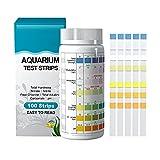 Shoppawhile 100 Pcs PH Test Strips for Aquarium Test Strips 7 in 1 Fish Tank Test Kit Hot Tub Test Strips Testing Kit...