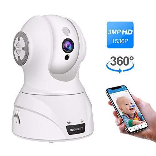 Wireless IP Camera, Pan Tilt Zoom 1536P WiFi Home Security Camera Pet...