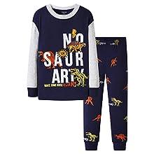 Ropa Niño 6-7 Años Pijama Niño de 1 a 7 Años Dinosaurio Pijama Niño Invierno de 100% Algodon Pijamas de Manga Larga Niños Dos Piezas Clothes