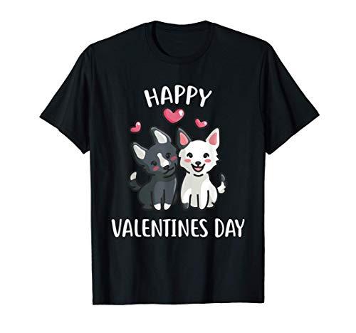 Feliz día de San Valentín Regala un lindo perro para ella Camiseta