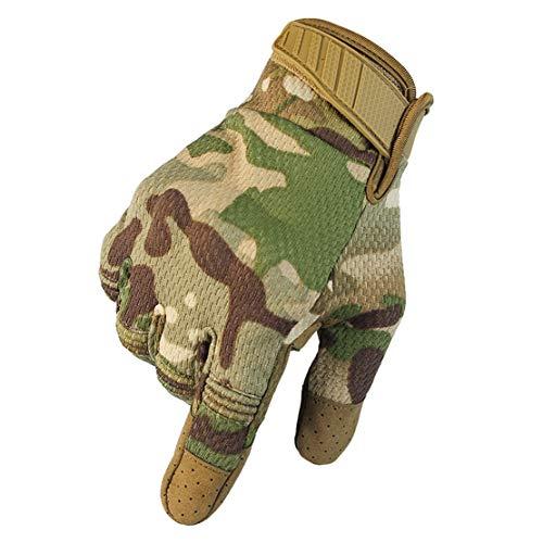 MTR Taktische Outdoor Handschuhe Motorradhandschuhe mit Atmungsaktiv rutschfest Berührungssensitiver Bildschirm zum Motorrad, Skifahren und andere Outdoor-Sportarten,Camouflage,XL