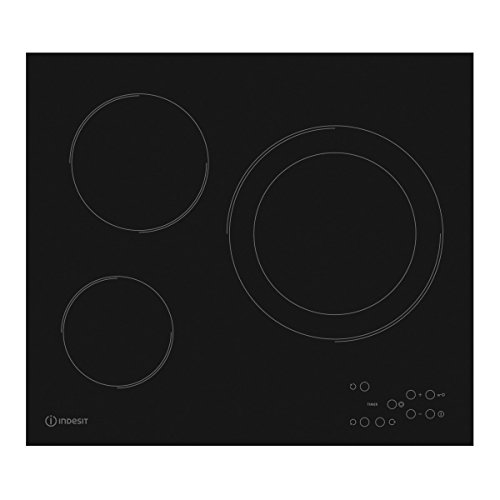 Encimera - Indesit RI 360 C (ES), Vitrocerámica, 3 zonas, 9 niveles