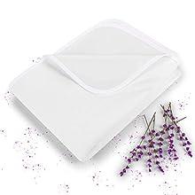 Blumtal Protector de Colchón Impermeable y Transpirable - Cubre colchón de algodón antiácaros con Bandas elásticas en Las 4 Esquinas, 150 x 200cm