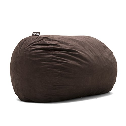 Big Joe Lenox Fuf Foam Filled Bean Bag, Extra Large, Cocoa