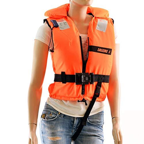 wellenshop Feststoff-Rettungsweste 150N 40 - über 90 kg Ohnmachtssicher Erwachsene Schwimmweste Schwimmhilfe Boot Weste Orange Größe 150 N 50-70 kg