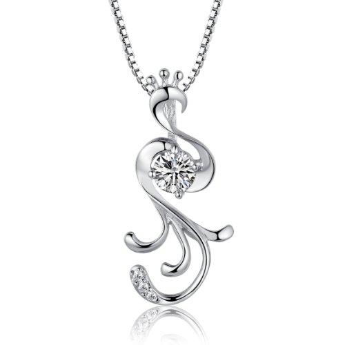 在庫一掃セール Moon Wings 銀のネックレスと認定スターリングシルバーペンダン