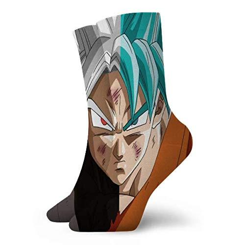 LCYYDECO Dragon Ball Goku Calcetines Calcetines de mujer y hombre Calcetines de fútbol Calcetines deportivos de tubo