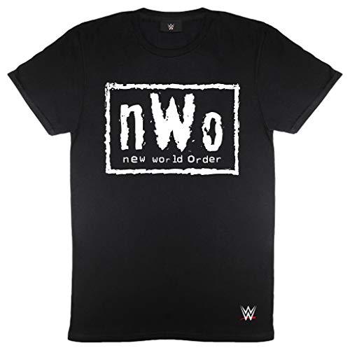 Popgear, Camiseta NWO para Hombre, T-Shirt WWE Oficial, Talla S-XXL, Color Negro   Wrestlemania, Idea del Regalo de cumpleaños para el papá Hijo Hermano, para el hogar o en el Gimnasio