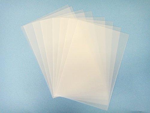 ちぢめるカードバラ売り 8枚セット 印刷できる半透明のプラ板 はがきサイズ