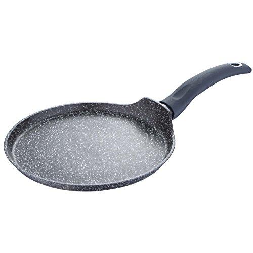 Bergner Orion Pancake Pfanne, geschmiedetes Aluminium, Grau, 24cm