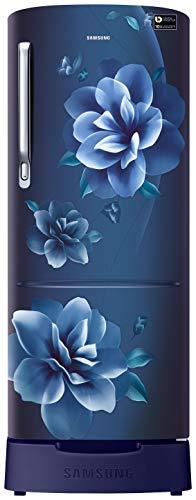 Samsung 215 L 4 Star Inverter Direct-Cool Single Door Refrigerator (RR22T383XCU/HL, Camellia Blue)