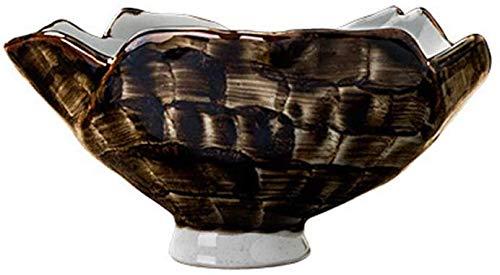GPFFACAI Ensaladeras Cuencos para Mezclar ENSALADERAS pie Alto tazón de cerámica característicos ensaladeras Restaurante Vajilla de Frutas del hogar