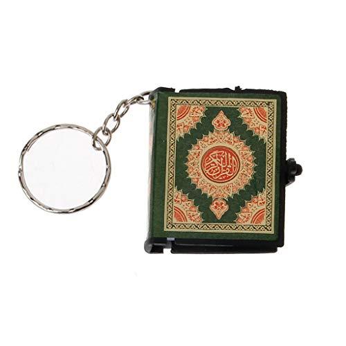 WE-WHLL Mini Arche Koran Buch Echtes Papier Kann Arabisch Lesen Der Koran Schlüsselbund Muslim Schmuck