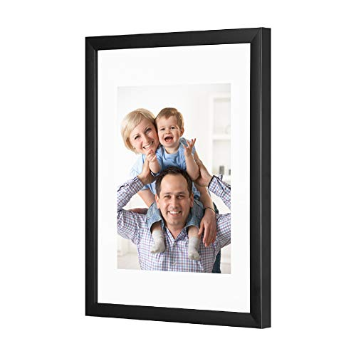 Cliusnra 11x14 Wall Photo Frame: Picture 8x10 with Mat Black Inch Mount Big Dad Perspex Mat Mum Memory Love Girl Grandma Portrait Friends Box Plexiglass Square Deep Gallery Multiple