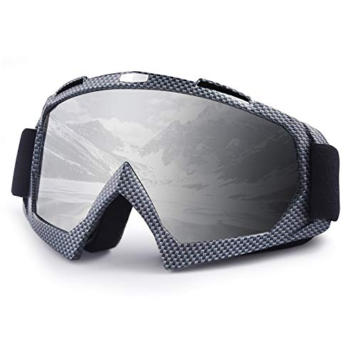 Ski Goggles, Snow Goggles, Atv goggles, Motocross Goggles, Dirt Bike Goggles, UV Protective Windproof Adjustable and OTG for Cycling,Climbing,etc (Damier)