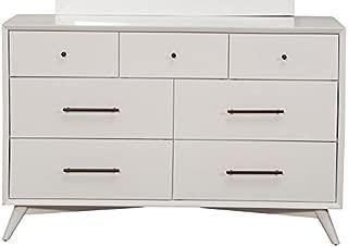 Alpine Furniture Flynn Mid Century Modern 7 Drawer Dresser, 56
