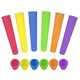 Veraing 6 PCS Eisformen Silikon Eisformen Popsicle Formen Set Ice Pop Maker Formen Set BPA frei Lebensmittel Silikon Wiederverwendbare für Kinder und Erwachsene