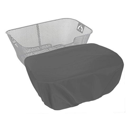 MadeForRain Extra große, wasserdichte Regenhülle/Abdeckung für Fahrradkörbe, Koffer, Postkisten, Aufbewahrungsboxen CityTurtle XL (Mausgrau)