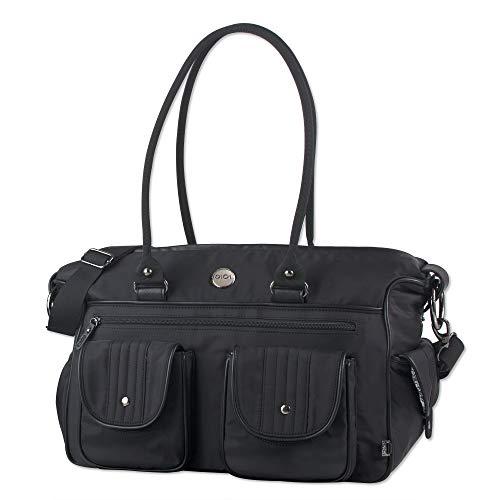 OiOi Multi Pocket Baby Travel Diaper Bag - Black