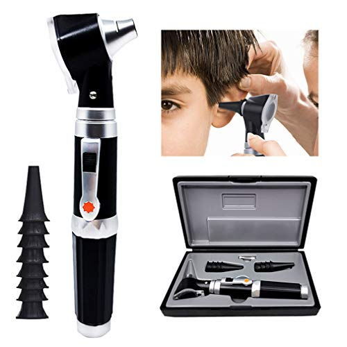 Comprobar la Oreja Lupa con LED, 3 aumentos Visual otoscopio, Inspección y removedor de Cera, 4 Tipos de otoscopio Cabeza para el Examen del oído