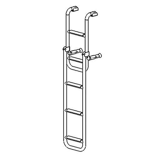 Badeleiter 2 plus 3 Stufen Bootsleiter klappbar Edelstahl 280x1325mm