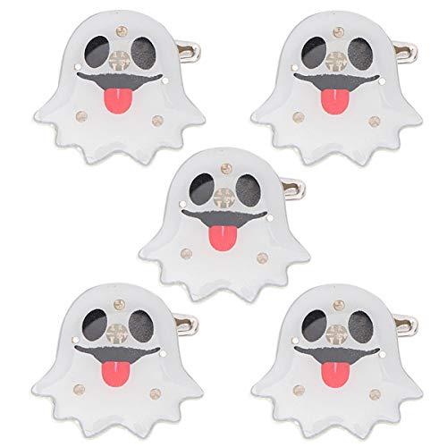 BESTOYARD 5 stück Halloween Brosche LED Pin Button Kinder Party Favors (Nette Geist)