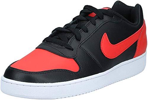 Nike Ebernon Low, Running Shoe Hombre, Negro/Habanero Red/Blanco, 44 EU