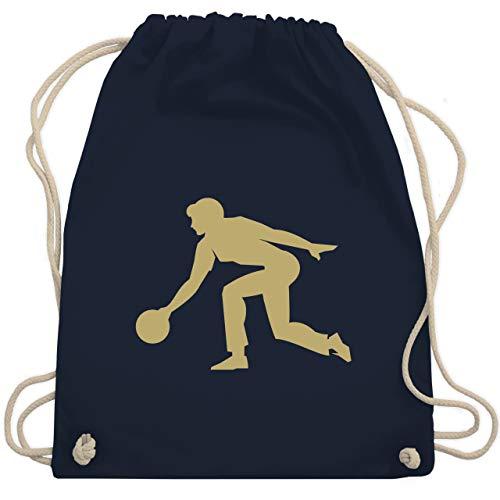 Bowling & Kegeln - Keglerin - Unisize - Navy Blau - bowling bag - WM110 - Turnbeutel und Stoffbeutel aus Baumwolle