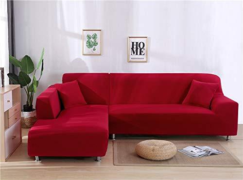 WXQY Funda de sofá de Sala de Estar geométrica en Forma de L Funda Protectora de sofá a Prueba de Polvo Funda de sofá retráctil elástica v A5 1 plazas