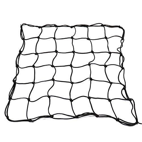 ValueHall Trellis Netting Heavy Duty Mesh Garden Trellis Netting for Grow Tents and Climbing Plants, Black Garden Netting with 6 Steel Hooks V7071 (23 x 23 inch)